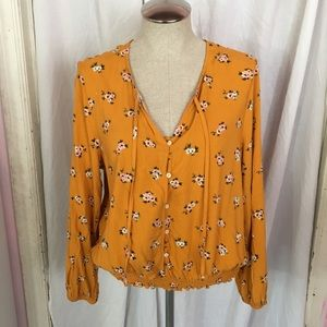 NWOT Golden Yellow Boho Top